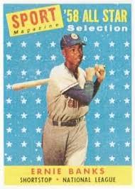 ernie banks baseball cards