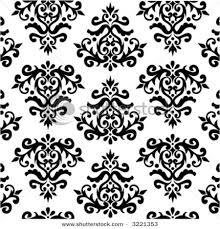 black floral patterns