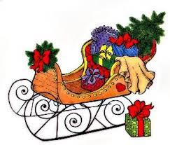 christmas sleigh clip art