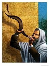 רמ´ח  MIZWOT - Gebote - 153 bis 171 040C0605LL~Man-Blowing-Shofar-for-Rosh-Hashanah-Posters