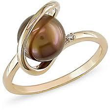 brown pearl ring