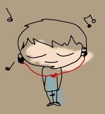 i listen music