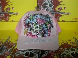 pink ed hardy cap