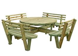 large picnic tables