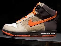 nike dunk high light bone team orange tar