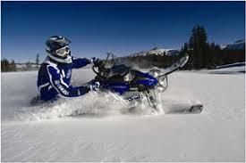 snowmobiles in powder