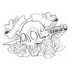 free skull stencils