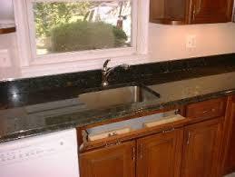 black granite tile countertops