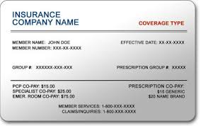 insurance card sample