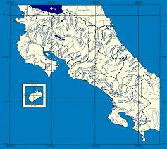 map of costa rica rivers