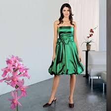 emerald green evening gowns