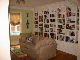 in wall bookshelf