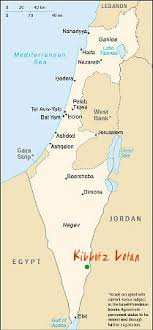 kibbutz map