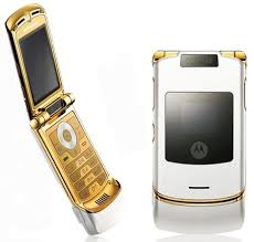 gold razr phone