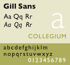gill sans serif
