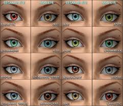 pictures of different eye colors