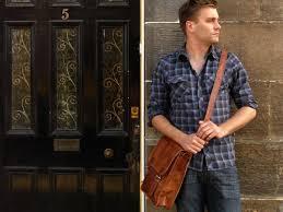 men leather satchel