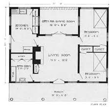 small cabin floor plan