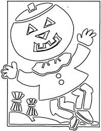scarecrow coloring picture