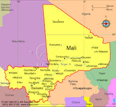 map of mali africa