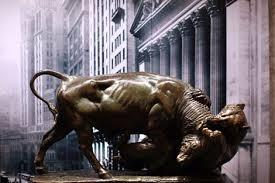 bull and bear statue
