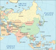 countries in asia map