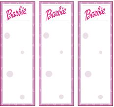 barbie bookmarks