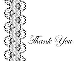 black thank you cards
