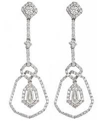diamond topaz earrings