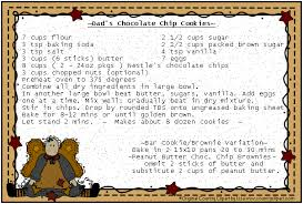 country recipe card