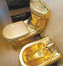 golden toilet seat