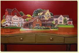 miniature wooden house
