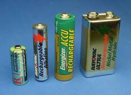 batteries sizes