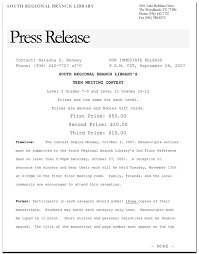 press releases examples