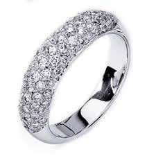 pave set wedding bands