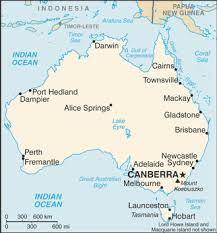 map of cities in australia