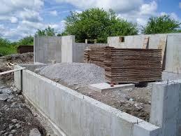 pour concrete walls