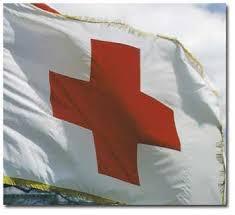 american red cross flag