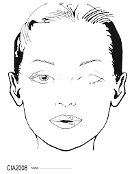 makeup face template