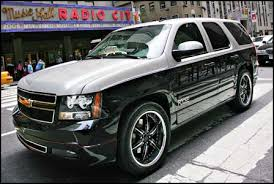 black chevrolet tahoe