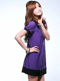 purple casual dress