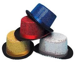 sequin top hats