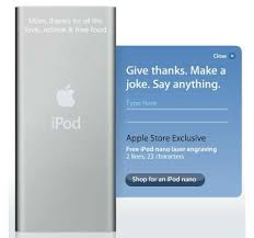 ipod laser engraving