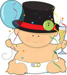baby new year clipart