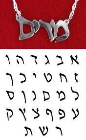 hebrew name necklaces