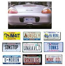 fun licence plates