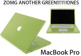 green mac book
