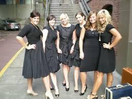 black and silver bridesmaid dresses