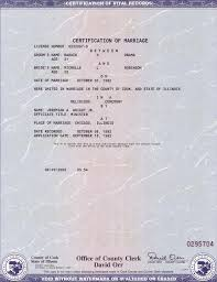 american marriage certificate