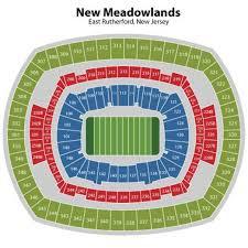 meadowlands stadium seating chart